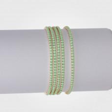 Bransoletka z kryształkami turquoise 16-20cm