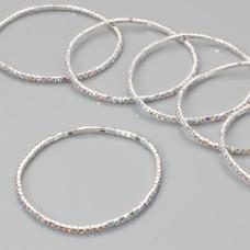 Bransoletka z kryształkami crystal AB 18-21cm