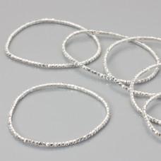 Bransoletka z kryształkami metal silver 18-21cm