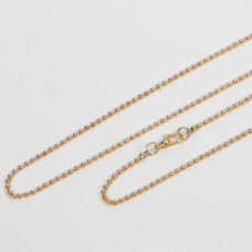 Łańcuszek bulion w kolorze złota z zawieszką gratis 77cm