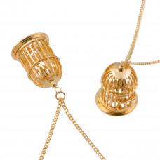 Łańcuszek simple w kolorze złota z zawieszką gratis 75cm