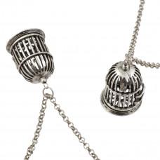 Łańcuszek rollo w kolorze srebrnym z zawieszką gratis 75cm