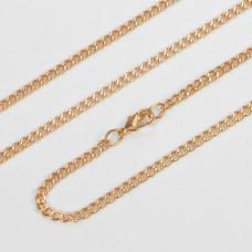 Łańcuszek simple w kolorze złota z zawieszką gratis 77cm