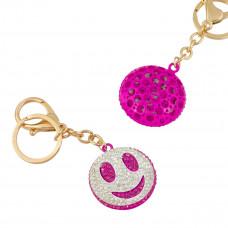 Breloczek w kolorze złota różowy uśmiech ok. 40mm