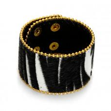 Czarno biała bransoletka zebra włochata 18-21cm