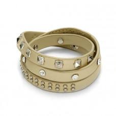 Ecru bransoletka zmiksowane ćwieki 3x20cm