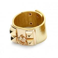 Bransoletka w kolorze złota ćwieki półkola 18-21cm