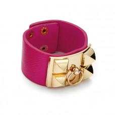 Różowa bransoletka z zawleczką złotą 18-21cm