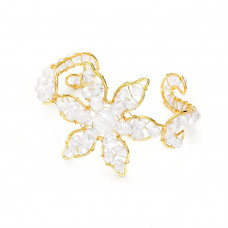 Bransoletka kwiat z plecionych kryształków crystal 18-21cm