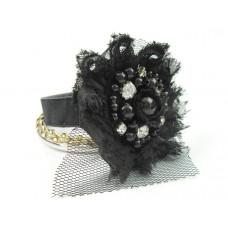 Zestaw bransoletek czarny kwiat 67mm