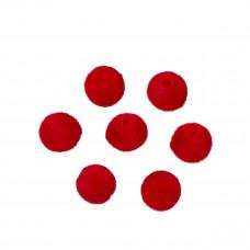 Kulki welurowe 10mm czerwone