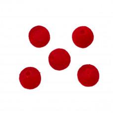 Kulki welurowe 12mm czerwone