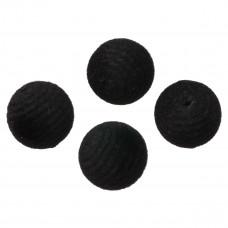 Kulki welurowe 20mm czarne