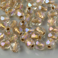Fire Polish Copper Line - Crystal AB (XCL00030) 4mm