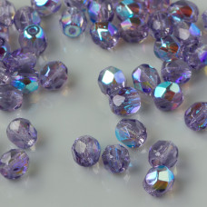 Fire Polish Tanzanite AB (X20510) 4mm