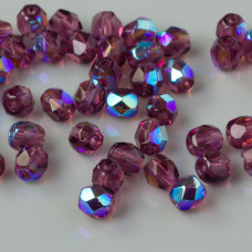 Fire Polish Amethyst AB (X20060) 4mm