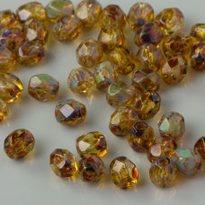 Fire Polish Crystal - Picasso (T00030) 4mm