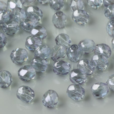 Fire Polish Crystal Luster - Transparent Blue (LB00030) 4mm