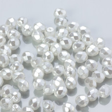 Fire Polish Coated White Pearl (70402CR) 4mm