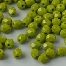 Fire Polish Opaque Olive (53420) 4mm