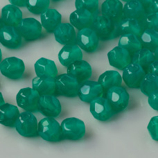 Fire Polish Alabaster Malachite Green (52060) 4mm