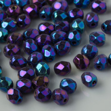 Fire Polish Iris Blue (21435JT) 4mm