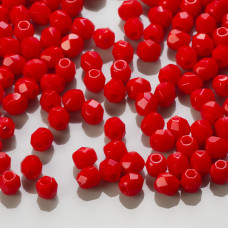Fire Polish Opaque Red (93200) 3mm