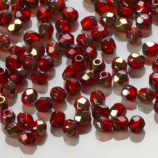 Fire Polish Bronze Iris Siam Ruby (ZR90080) 3mm