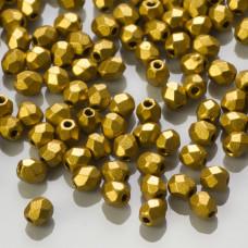 Fire Polish Matte Metallic Aztec Gold (K0172JT) 3mm
