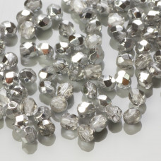 Fire Polish Silver 1/2 (S00030) 3mm