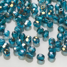Fire Polish Bronze Iris Dark Aquamarine (ZR60040) 3mm