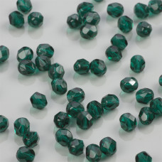 Fire Polish Dk Emerald (50740) 6mm
