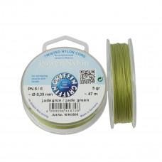 Nitka Power Nylon do koralików jade green 0,35mm