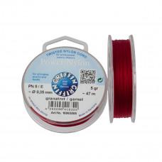 Nitka Power Nylon do koralików garnet 0,35mm