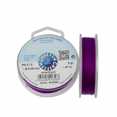 Nitka Power Nylon do koralików amethyst 0,35mm