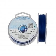 Nitka Power Nylon do koralików dark blue 0,35mm