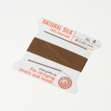 Nici jedwabne z igłą brown 0,6mm