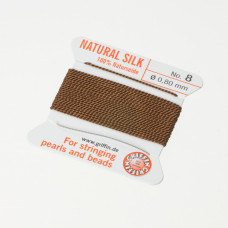 Nici jedwabne z igłą brown 0,8mm