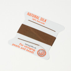Nici jedwabne z igłą brown 0,5 mm
