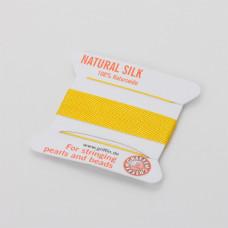 Nici jedwabne z igłą yellow 0,6 mm