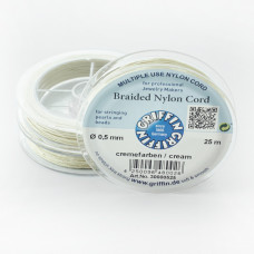 Griffin nylonowy sznurek do makramy cream 0,5mm