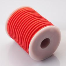 Tuba kauczukowa w oplocie 5mm czerwona