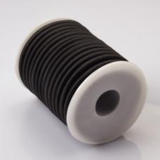 Tuba kauczukowa w oplocie 5mm czarna