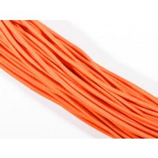 Gumka pleciona okrągła neonowa pomarańczowa 3mm