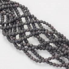 Kwarc syntetyczny powlekany kulka 4mm czarny stalowy
