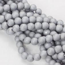 Kwarc syntetyczny powlekany kulka 10mm srebrny