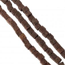 Lawa brązowa kostka 14mm