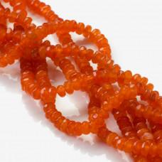 Agat oponki fasetowane pomarańczowe 4x2mm