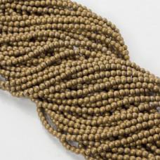 Hematyt kulka gładka matowa złota 3mm