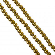 Hematyt kulki złote 8mm
